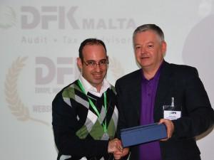 Presentation of DFK EMEA Best Website Award